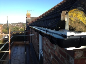 Guttering replacement.