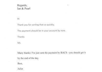 E-mail Testimonials Clips
