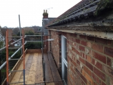 Old guttering fascia and soffit